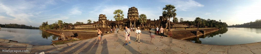 Exterior of Angkor Wat at sunset