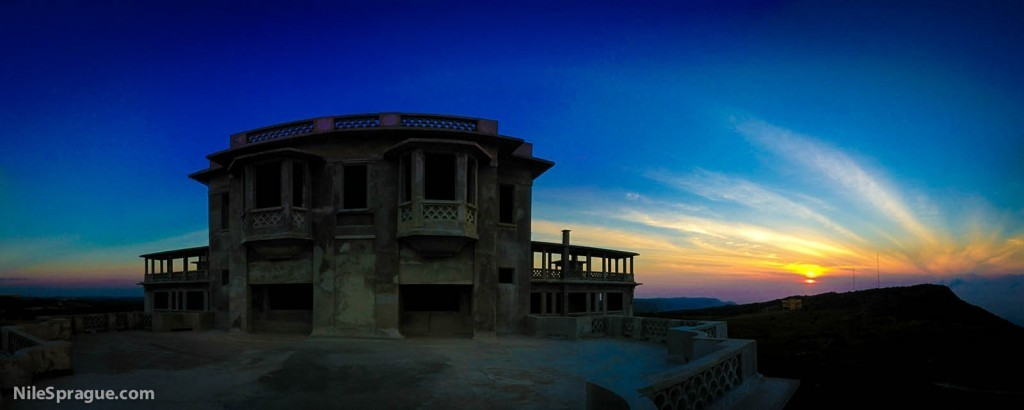 Sunrise from the old casino on Bokor, Kampot